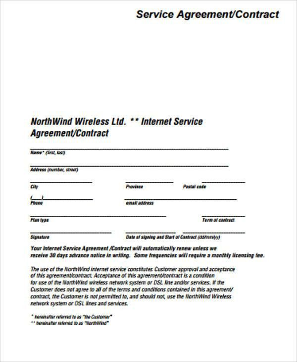 Simple Service Contract Sample - 7+ Examples in Word, PDF