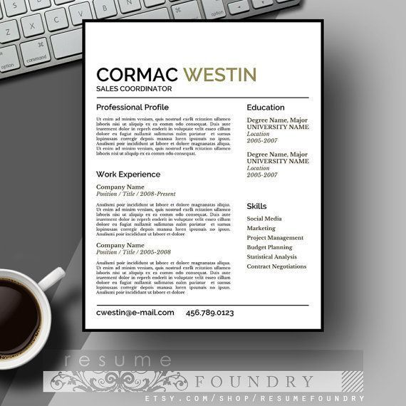 37 best Masculine Resume Templates images on Pinterest | Cv ...