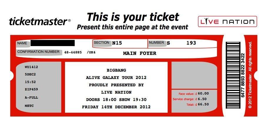 Concert Ticket Template | Peerpex  Fake Plane Ticket Template