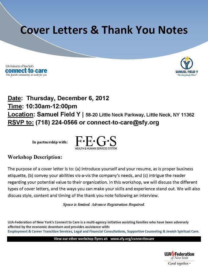 HOW TO WRITE COVER LETTERS AND THANK YOU NOTES | Samuel Field Y