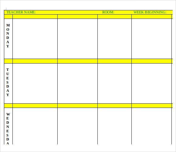 Sample Printable Lesson Plan Template - 6+ Free Documents in PDF ...