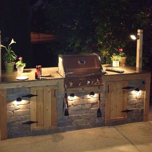 Outdoor Grill Lights An outdoor kitchen is a pleasant place where you can gather your an outdoor kitchen is a pleasant place where you can gather your family and friends together and enjoy the fun of outdoor cooking in addition to e workwithnaturefo