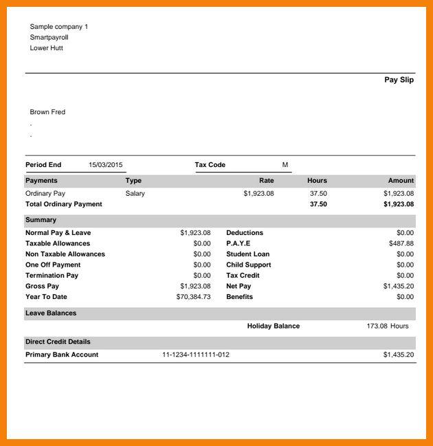 6+ sample payroll slip | hr cover letter