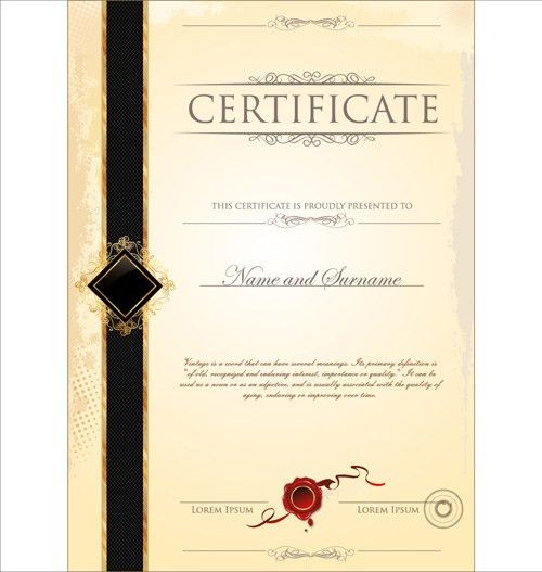Cover of Certificate design template vector 04 - Vector Cover free ...