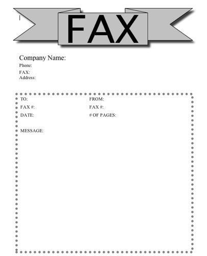 free sample fax cover sheet template word doc editable. fax cover ...