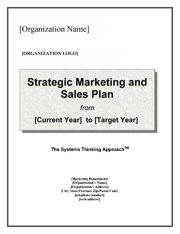 Strategic Marketing & Sales Plan Template (Word)