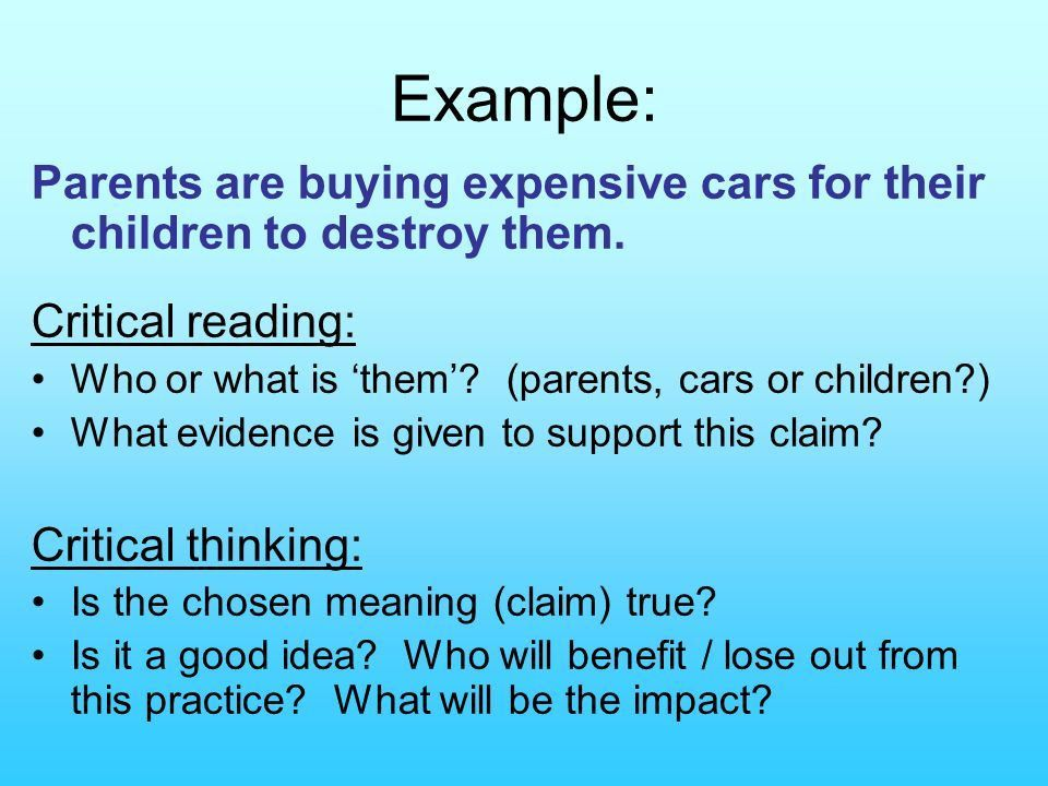 Critical Reading Critical Thinking. - ppt download