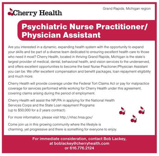 Psychiatric Nurse Practitioner / Physician Assistant job in Grand ...