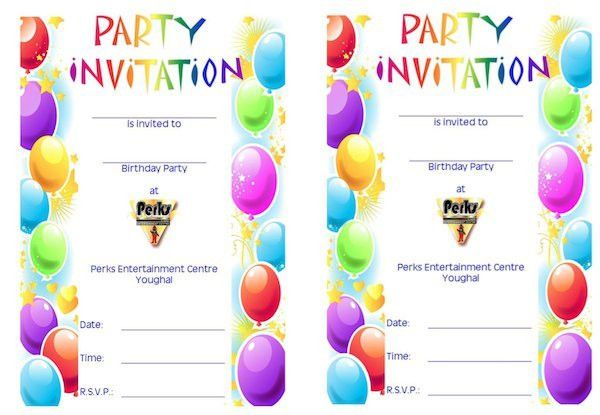 43 Free Birthday Party Invitation Templates – Free Template Downloads