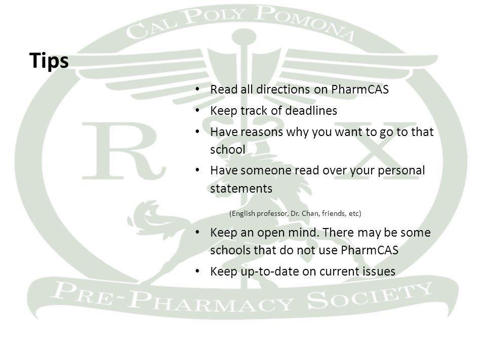 Pharmcas personal statement help