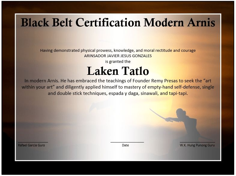 Martial Arts Event Winner Certificate Template – Free Template ...
