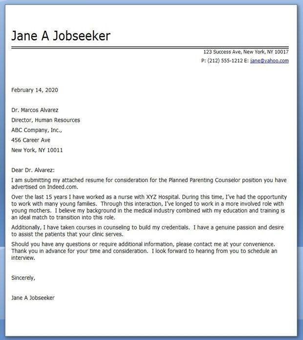 Cover Letter For Career Change | | jvwithmenow.com