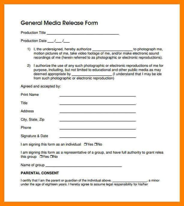 5+ general release form template | packaging clerks