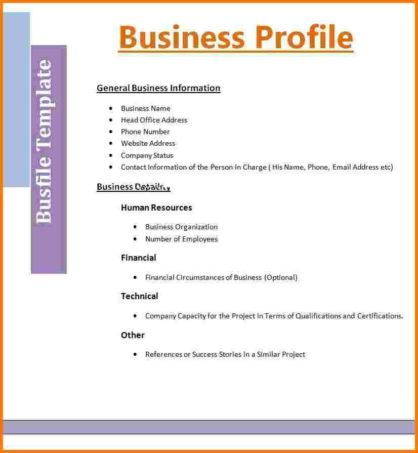 5 Business Profile Template | Receipt Templates  Professional Business Profile