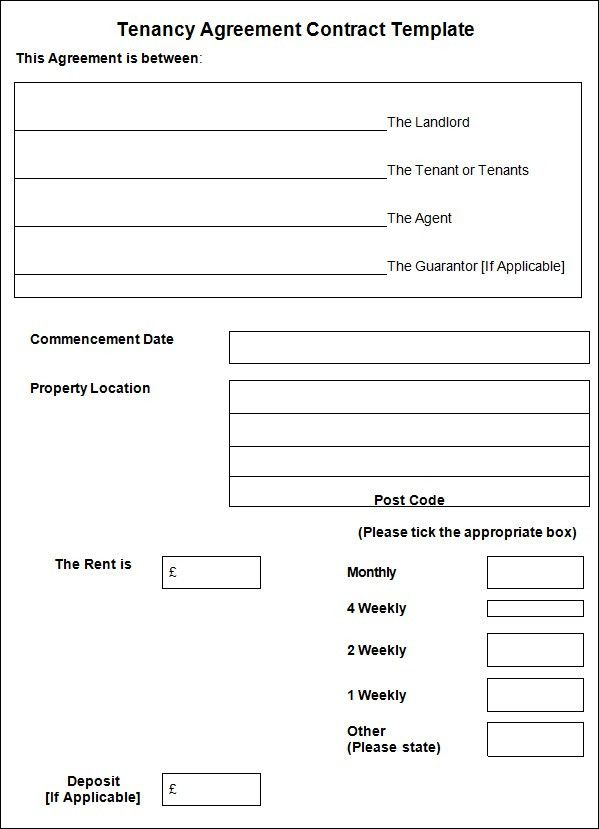 Blank Tenancy Agreement Template  OloschurchtpCom