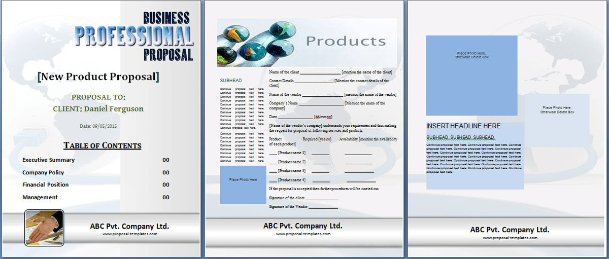 New Product Proposal Template Free | Proposal Templates