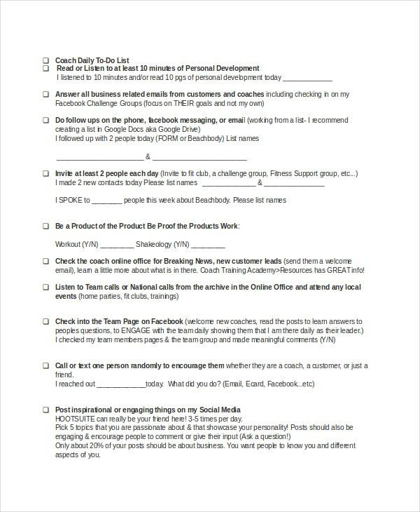 To Do List - 13+ Free Word, Excel, PDF Documents Download | Free ...