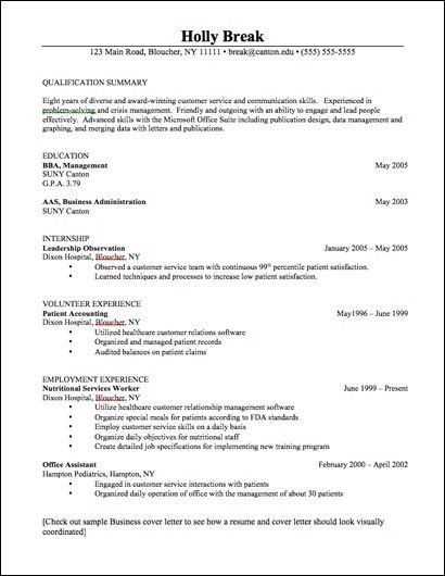 career services sample resumes - Emt Resume Template