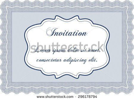 Vector Illustration Formal Invitation Template Easy Stock Vector ...