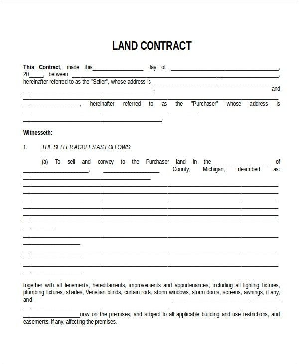 Seo Contract Template. Land Contract Template 13+ Contract .