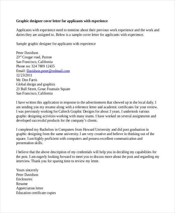Designer Cover Letter - 9+ Free Word, PDF Format Download   Free ...