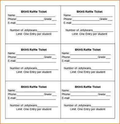 8+ raffle ticket template word | academic resume template