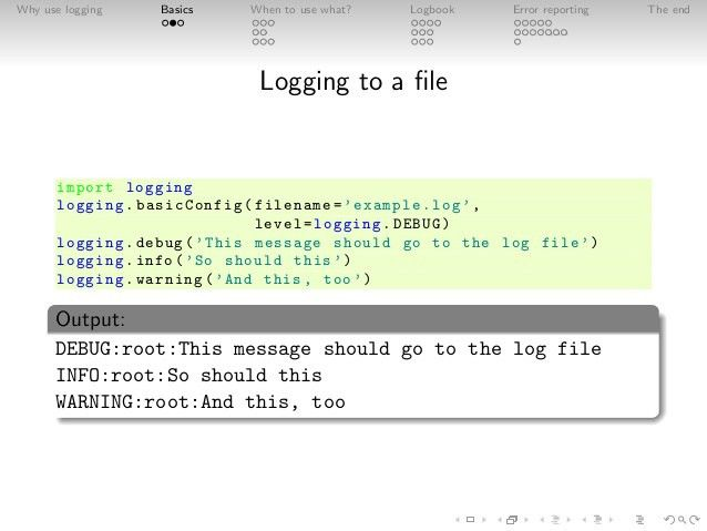 Logging in Python for large applications