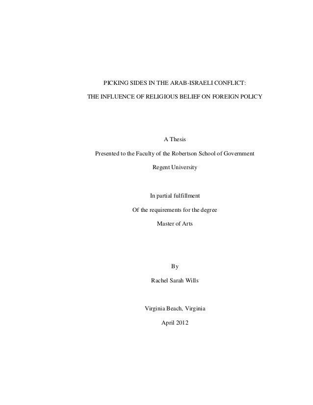 Sample of Master Thesis in Political Science