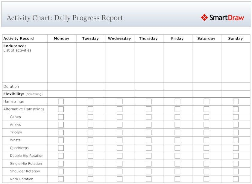 10 Best Images of Weekly Progress Chart For Students - Weekly ...