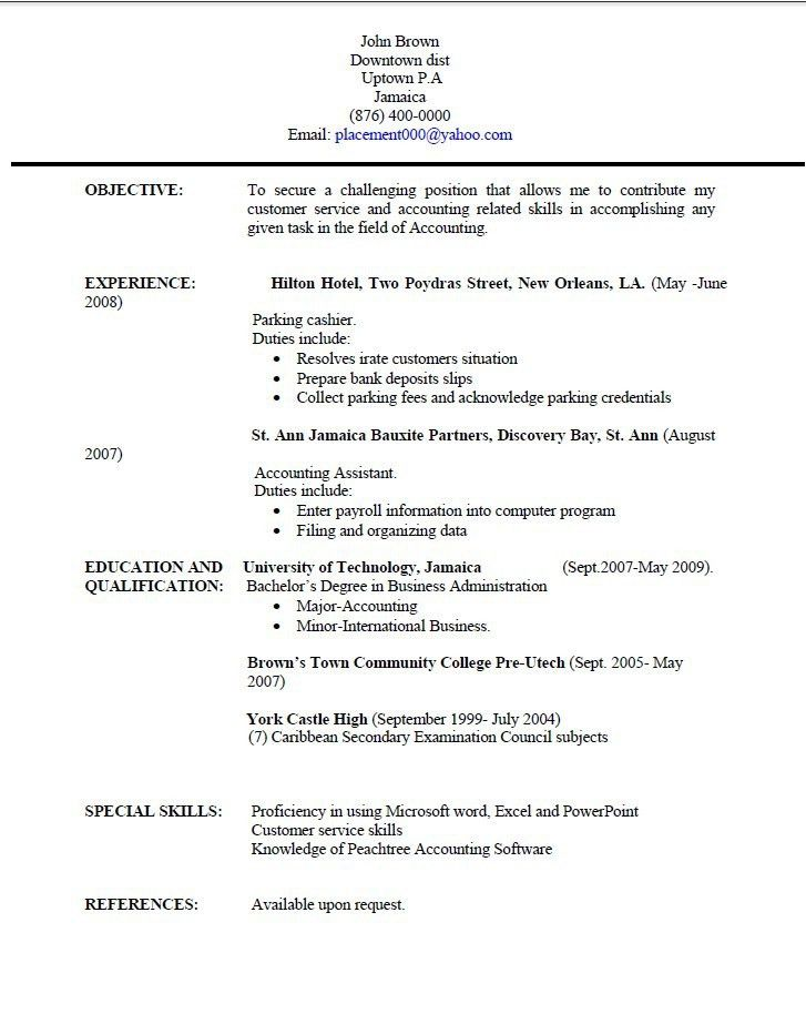 Technology Resume Template. Resume-Templates-Jamaica-Resume ...