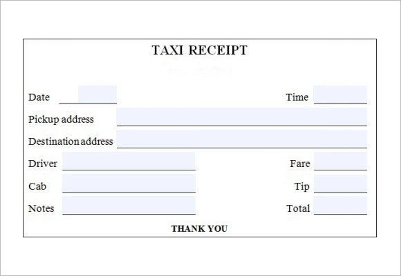 9+ Taxi Receipt Templates – Free Samples, Examples, Format
