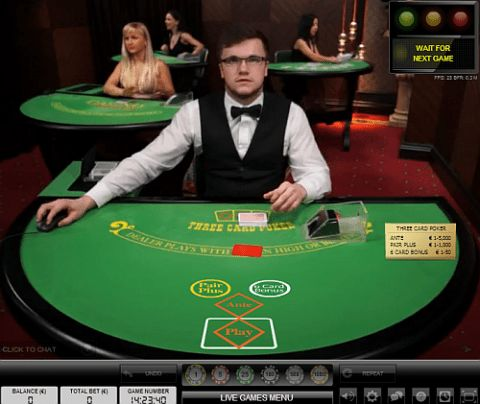 Strategy for Live Dealer 3-Card Poker - Play Live Tri-Card Poker ...