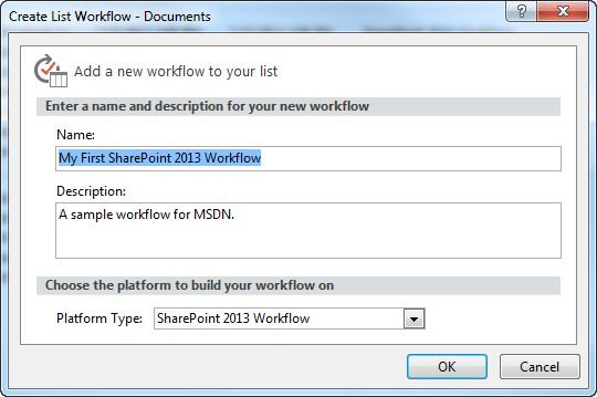 Creating a workflow by using SharePoint Designer 2013 and the ...