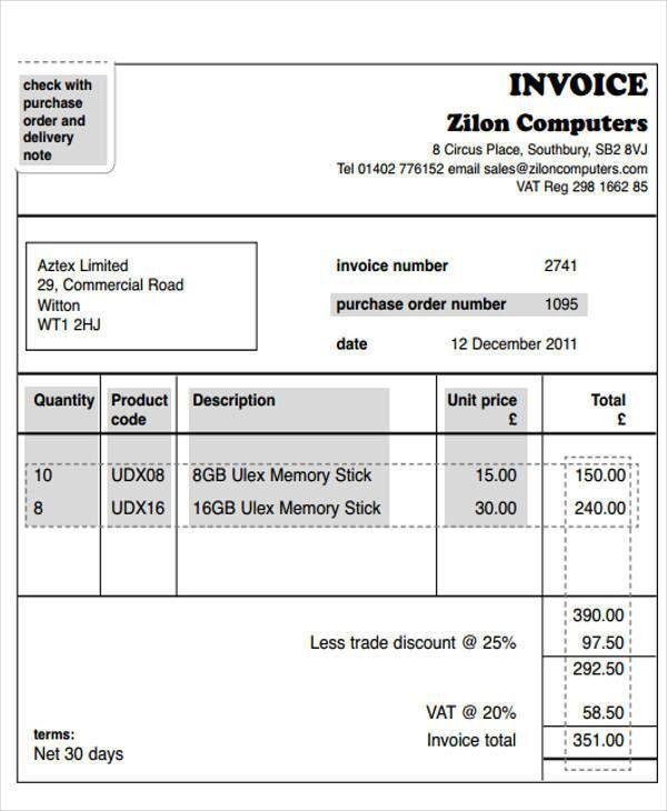 41 Invoice Templates