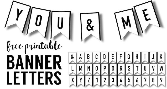 Banner Templates Free Printable ABC Letters - Paper Trail Design