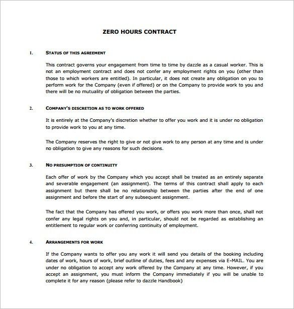 Work Contract Templates. Easy Work Contract Invoice Template ...