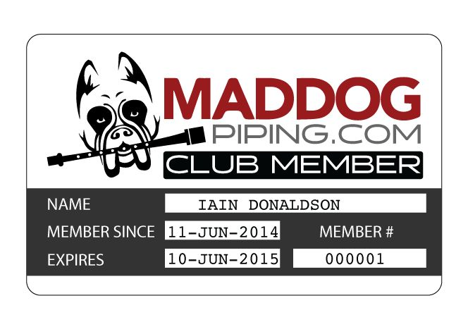 MADDOG Piping Annual Membership - MADDOG Piping