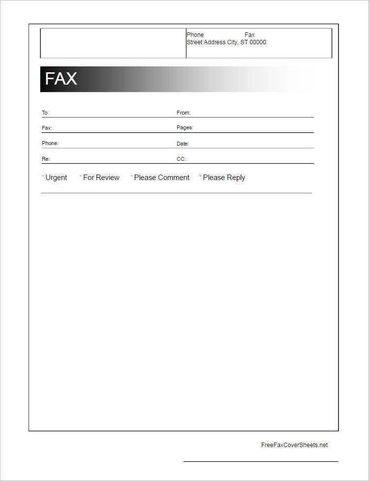 Generic Fax Cover Sheet. 20 New Fax Cover Sheet Word Template Fax ...