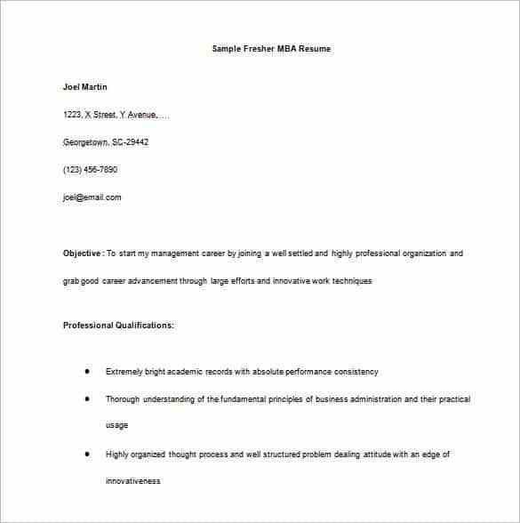 Simple Resume Format For Freshers Pdf Simple Resume Template 34693 ...