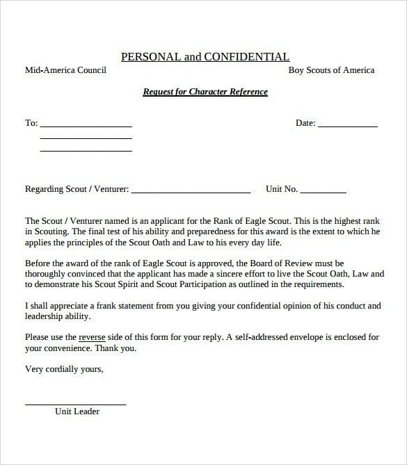 Sample Eagle Scout Letter of Recommendation - 9+ Download ...