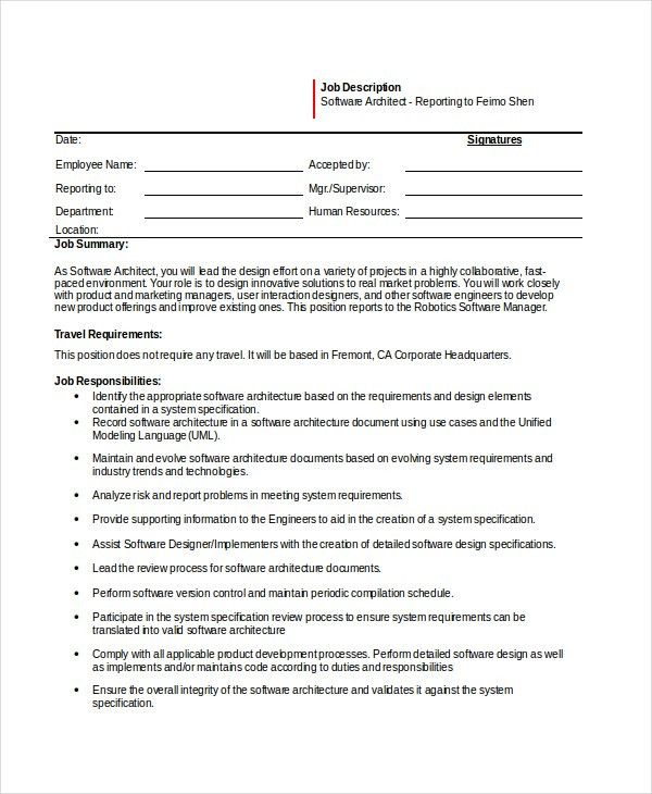 software engineer job description 11 free word pdf psd. Resume Example. Resume CV Cover Letter