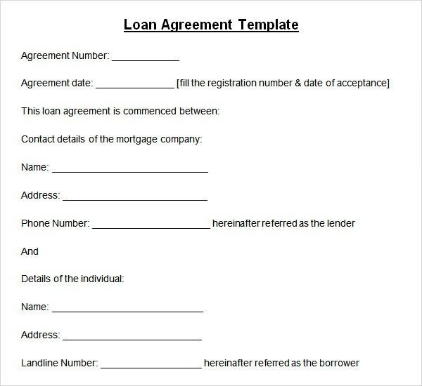 loan agreement. home loan agreement template. 14 loan agreement ...