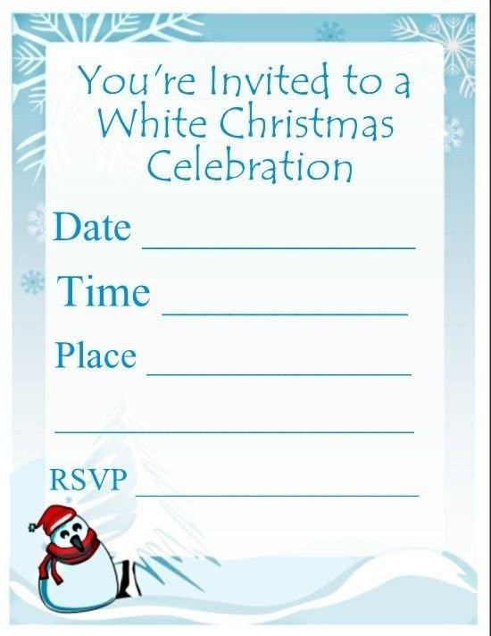 Christmas Invitation Template Blank | Best Idea Christmas 2017