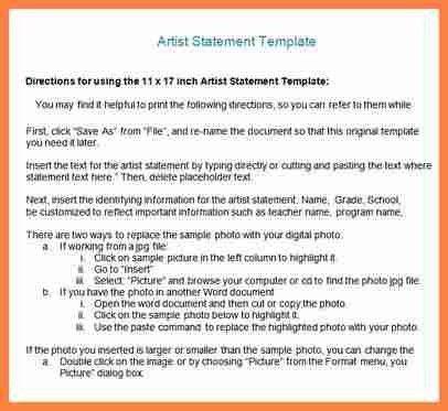 8+ artist statement sample   Invoice Example 2017