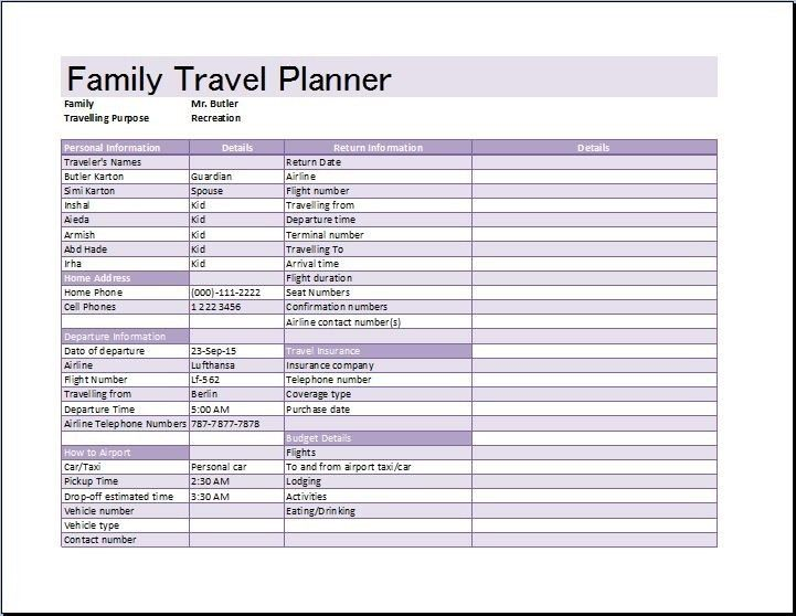 Trip Itinerary Template. Flight Itinerary Template Simple-Travel ...