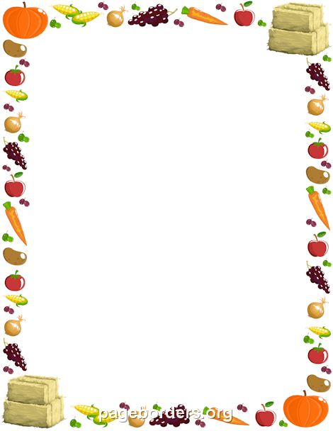 Harvest Border | PCCW | Pinterest | Border templates, Clip art and ...
