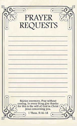 Free Printable Prayer Request Forms | Printable prayers, Prayer ...
