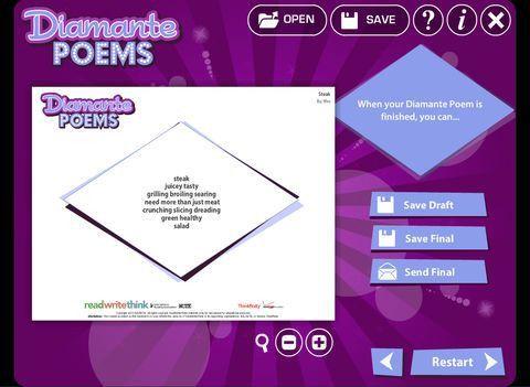 Diamante Poem on the App Store