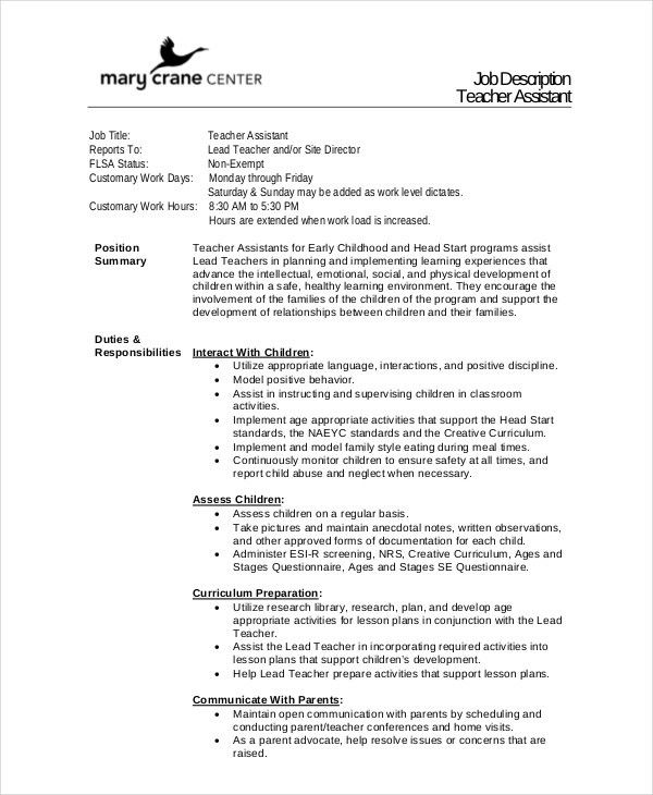 19+ Substitute Teacher Job Description For Resume | Tutor Resumes ...