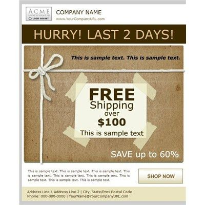 Professional Free Shipping Sale Email Templates, Business Email ...